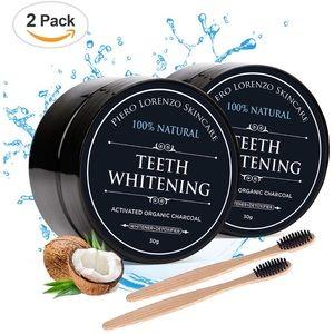 Other - Teeth whitening kit w. powder & brushes natural